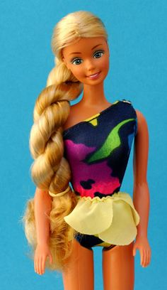 Tropical Barbie. Best Barbie hair ever.