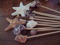 Seashell picks for flower arrangments