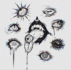 Dark Art Drawings, Tattoo Design Drawings, Tattoo Sketches, Cute Drawings, Art Sketches, Kon Bleach, Arte Emo, Dark Tattoo, Goth Tattoo