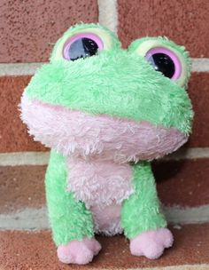 "TY beanie Boo Kiwi Frog 2009 Rare Retired Collectible 6"" Plush #Ty"