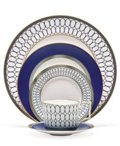 "Wedgwood ""Renaissance Gold"" 5-Piece Place Setting - Fine China - Dining & Entertaining - Macy's"