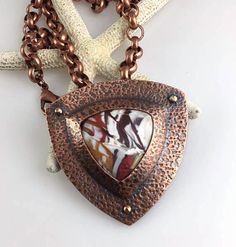 https://flic.kr/p/BB3Spq | Copper/polymer necklace by Janice Abarbanel