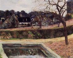 by Paul Gauguin in oil on canvas, done in . Find a fine art print of this Paul Gauguin painting. Paul Gauguin, Impressionist Artists, Henri Matisse, French Art, New Artists, Vincent Van Gogh, Art Images, Les Oeuvres, Pond