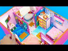 DIY Miniature Dollhouse in a Shoebox ~ Ariel Cigar Box Diy, Diy Box, Miniature Dollhouse, Diy Dollhouse, Ariel Doll, Fun Easy Crafts, Bear Valentines, Doll Furniture, Craft Work