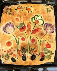 How To Make Bread, Food To Make, Focaccia Bread Recipe, Bread Art, Artisan Bread, Creative Food, Food Design, Bread Baking, Food Art