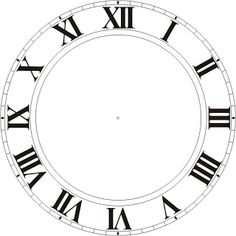 FREE Printable Clock Faces for New Year's Eve from Be Different...Act Normal: DIY New Years Eve Decorations [New Years Celebration].  Also links to a standard numbers clock face version in addition to Roman numerals.