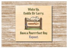MAPLE WOOD Cat Quote Square Sign: Bespoke by Honeymellows on Etsy