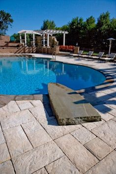 Unilock Pool Deck and Patio with Yorkstone paver