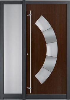 Puerta de entrada abatible / de aluminio / de seguridad ARCHITECT : T20S FINSTRAL
