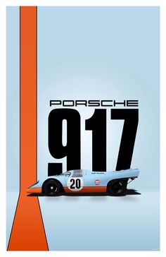 The classic Gulf liveried Porsche Chassis No. was featured in the Steve McQueen movie, Le Mans that Michael Delaney started the race with but subsequently crashed.(a replica, not the r. Porsche Autos, Porsche Motorsport, Porsche Cars, Porsche Panamera, Auto Poster, Car Posters, Porsche Modelos, Auto Motor Sport, Car Illustration