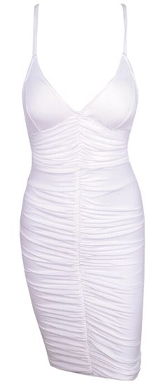 Shirred body-hugging cocktail dress. This dress will hide all the flaws and highlight your best figure. Run true to size.