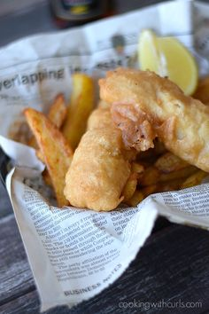 Traditional Beer Batter Fish and Chips | cookingwithcurls.com