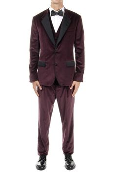 DOLCE & GABBANA velvet suit with double vent (art. 0101 XS G1SEET FUWAK M5039)