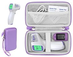 Amazon.com: Casesack Forehead Thermometer case for Non-Contact Infrared Digital Thermometer Like Vibeey, eZthings, HALIDODO, HIGBRE, ALLIRIER, AFARELY, ROYADVE, REDESS, iCode, SUNNYPLUS, BrillianceHair, drtulz: Industrial & Scientific Infrared Thermometer, Digital Thermometer, Amazon Fulfillment, Sell On Amazon, Purple, Industrial, Travel Checklist, Study, Design