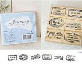 travel stamps for scrapbooking, travel journal, notebooks / aeroplane / air mail / flight / travel chops / passport / masking tape. $100.00, via Etsy.