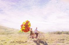 red heart balloons are the perfect engagement prop