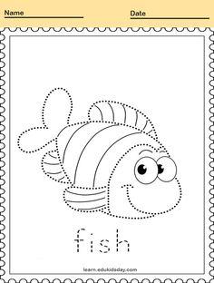Printable Animal Line Tracing Worksheets #PrintableTracing animal line tracing fish #kids #linetracing #printablelinetracing #linetracingworksheets #kindergartens #tracing #alphabettracingletter #alphabetlettertracing Line Tracing Worksheets, Kindergartens, To Trace, Printable Animals, Tracing Letters, Handwriting, Alphabet, Printables, Symbols
