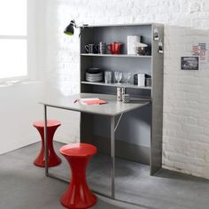 1000 images about fold out table on pinterest fold out - Table de cuisine avec rangement ...