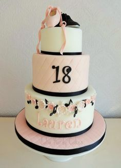 Ballet, Tap and Music Themed Cake - Cake by Julia Hardy