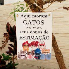 Placa Gatos 15x20