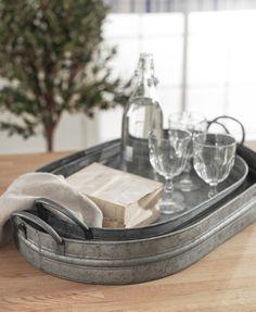 galvanized serving trays!