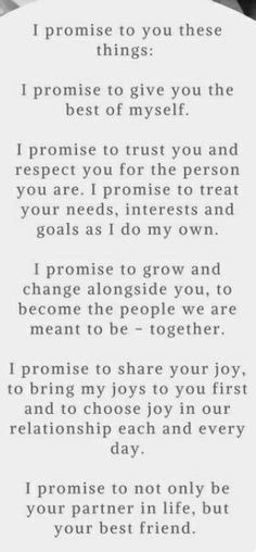 Super wedding quotes and sayings vows i promise Ideas Life Quotes Love, Love Quotes For Him, Quotes To Live By, Me Quotes, Heart Quotes, Promise Quotes, I Promise, Under Your Spell, Wedding Quotes
