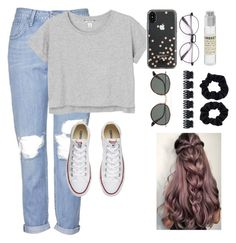 """""""Simple as if!!!"""" by piperizabella ❤ liked on Polyvore featuring Topshop, Monki, Converse, Kate Spade, Le Labo, Ray-Ban and Accessorize"""