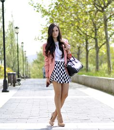 * Petit and Sweet Couture: ...Chessboard Skirt...