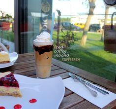 Iced coffee mocha & cheescake @ Dodici Ataköy Marina