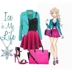 Elsa by pixieshtick on Polyvore featuring moda, Lust For Life, MICHAEL Michael Kors, Amanda Rose Collection, Disney, women's clothing, women's fashion, women, female and woman