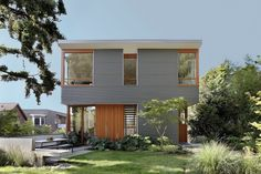 street house in usa with metal sheet wood and glass design (1)
