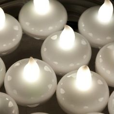 Centerpieces & Table Decor Floating Led Tea Lights White Fish Bowls Balloon Light For Wedding Party Decor & Garden Led Party Lights, Balloon Lights, Led Tea Lights, Solar Lights, Floating Candles, White Candles, Led Candles, Candle Wicks, Floating Lights