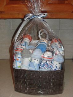 Gift basket for baby shower