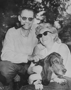 Marilyn and Arthur Miller in Roxbury, CT