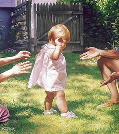 """""""Baby's First Steps"""" -- Tom Sierak (1950, American)"""