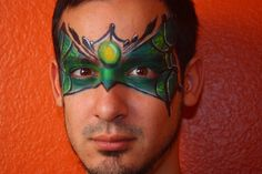 Spider Monster Super Heroe Face Painting Design with Global