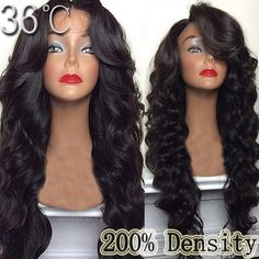 128.35$  Buy here - http://ali65l.worldwells.pw/go.php?t=32559392303 - Long Soft Thick Wig 200 Density Human Hair Wig Loose Wave Brazilian Virgin Hair Full Lace Wig Human Hair Lace Front Wigs 32Inch 128.35$