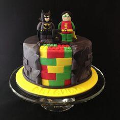 Batman & Robin Lego Cake