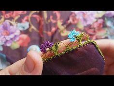 Çıtı pıtı muhtesem renk renk çeyizlik tıg oyası yapımı - YouTube Floral, Flowers, Stitches, Youtube, Jewelry, Instagram, Google, Crochet Shawl, Stitching