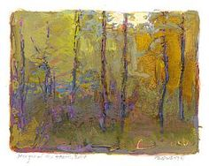 Thomas Paquette gouache: * Margin of the Heath, 2 x 2-1/2 inches -- tiny!