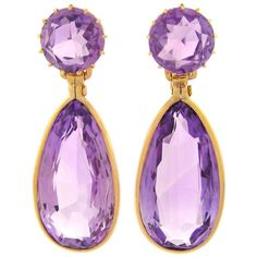 Victorian Amethyst Dangle Earrings ❤ liked on Polyvore