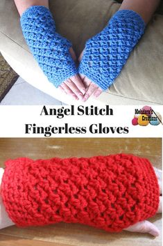 Your place to learn how to Crochet the Angel Stitch Finger less Gloves for FREE. by Meladora's Creations - Free Crochet Patterns and Video Tutorials
