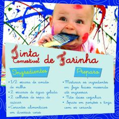 tinta de farinha Indoor Activities For Kids, Infant Activities, Montessori Activities, Fun Activities, Kids Art Corner, Baby Play, Baby Kids, Baby Center, Happy Baby