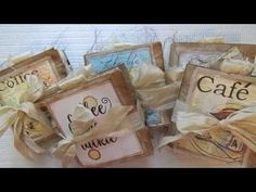 Coffee Themed Bag Journals and a Sneak Peek - YouTube