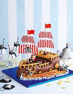 Pirate Ship Cake Cakes