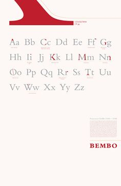 Font Study: Bembo on Behance