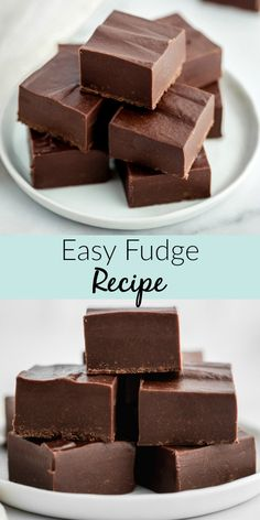 Fudge is a delicious, decadent classice dessert treat. This simple chocolate fudge recipe is made with just three ingredients and takes only a few minutes to make too. Super easy and there's no candy thermometer required! Easy Chocolate Desserts, Mini Desserts, Christmas Desserts, Easy Desserts, Christmas Chocolate, Easy Christmas Candy Recipes, Easy Candy Recipes, Best Chocolate Fudge Recipes, Simple Dessert Recipes