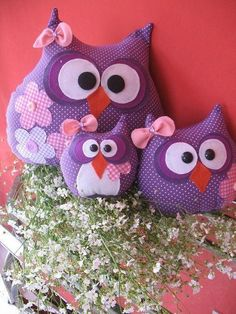 Stuffed Owls - no directions but picture gives good idea