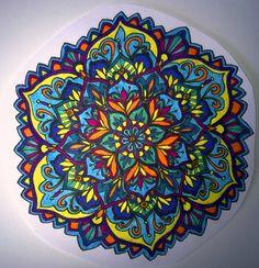 ⊰❁⊱ Mandala ⊰❁⊱ I enjoy others& work and it keeps me out of a ru. - ⊰❁⊱ Mandala ⊰❁⊱ I enjoy others& work and it keeps me out of a rut with colors. Yin Yang, Mandala Painting, Mandala Art, Flower Mandala, Circle Art, Circle Of Life, Elefante Hindu, Hamsa Art, Aztec Art