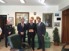Pozzuoli, in visita una delegazione della polizia palestinese